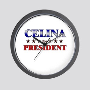 CELINA for president Wall Clock