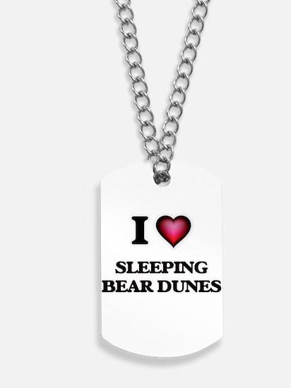 I love Sleeping Bear Dunes Michigan Dog Tags