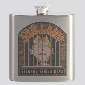 Jaillary Hillary for Prison Flask