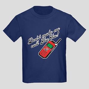 Don't Make Me Call YiaYia Kids Dark T-Shirt