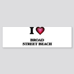 I love Broad Street Beach Wisconsin Bumper Sticker
