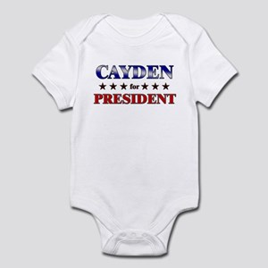 CAYDEN for president Infant Bodysuit