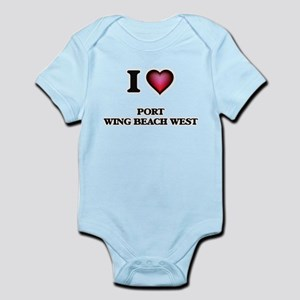 I love Port Wing Beach West Wisconsin Body Suit