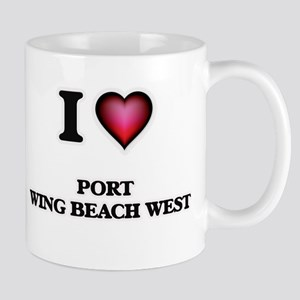 I love Port Wing Beach West Wisconsin Mugs