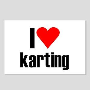 I love karting Postcards (Package of 8)