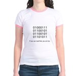 Geek in Binary - Jr. Ringer T-Shirt