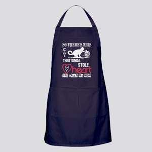 This Cat Stole My Heart T Shirt Apron (dark)