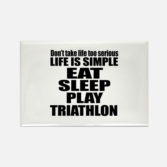 Life Is Eat Sleep And T Rectangle Magnet (10 pack)