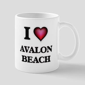 I love Avalon Beach California Mugs