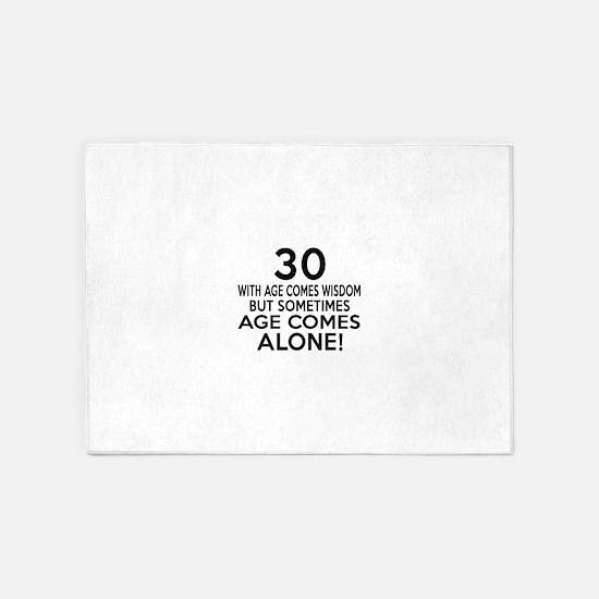 30 Awesome Birthday Designs 5'x7'Area Rug