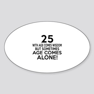 25 Awesome Birthday Designs Sticker (Oval)
