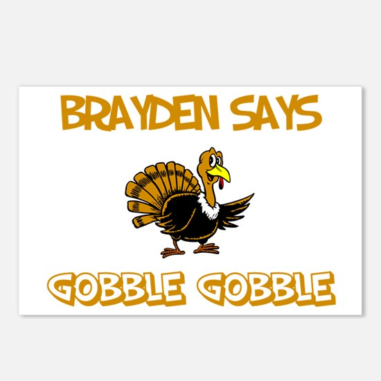 Brayden Says Gobble Gobble Postcards (Package of