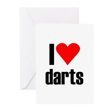 I love darts Greeting Cards (Pk of 20)