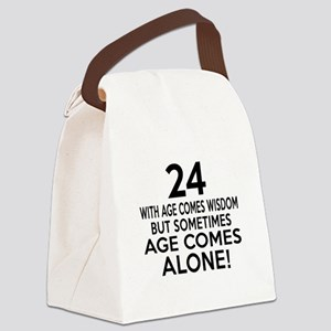 24 Awesome Birthday Designs Canvas Lunch Bag