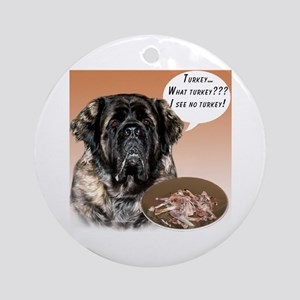 Mastiff fluffy Turkey Ornament (Round)