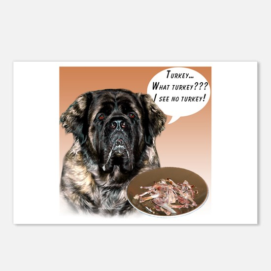 Mastiff fluffy Turkey Postcards (Package of 8)