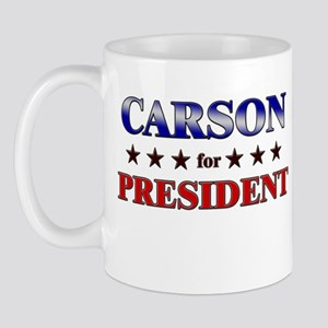 CARSON for president Mug