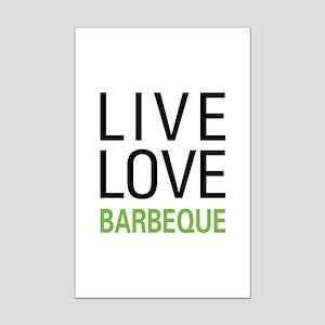 Live Love Barbeque Mini Poster Print