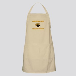 Christian Says Gobble Gobble BBQ Apron