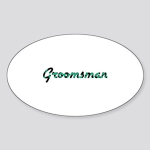 Groomsman - Airstream Oval Sticker
