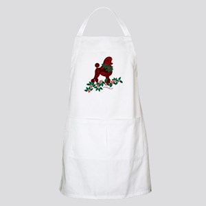 Poodle Holiday BBQ Apron