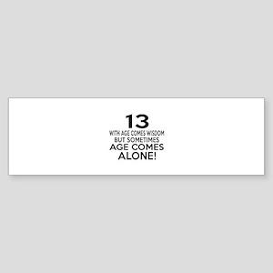 13 Awesome Birthday Designs Sticker (Bumper)