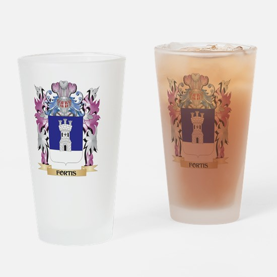 Fortis Coat of Arms (Family Crest) Drinking Glass