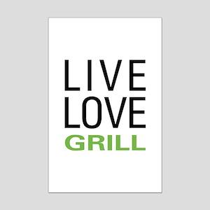 Live Love Grill Mini Poster Print