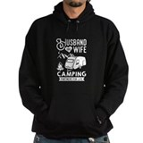 Husband wife camping partners for life Dark Hoodies