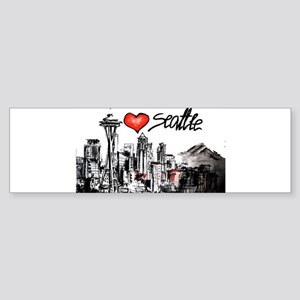 I love Seattle Bumper Sticker