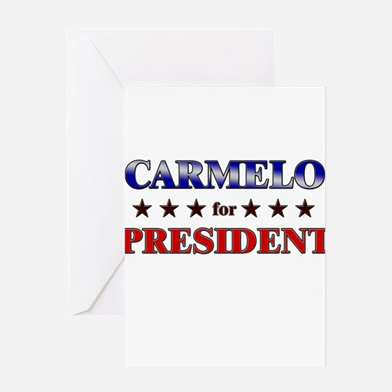 CARMELO for president Greeting Card