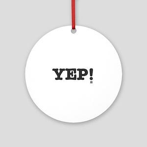 YEP Round Ornament