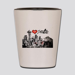 I love Seattle Shot Glass