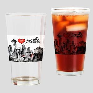 I love Seattle Drinking Glass