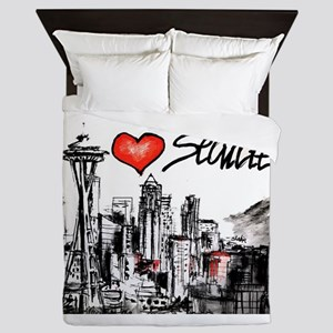 I love Seattle Queen Duvet
