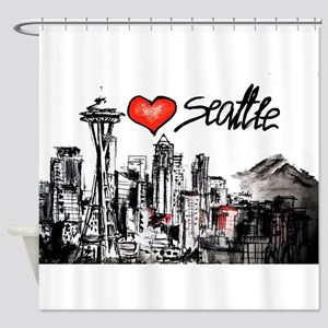 I love Seattle Shower Curtain