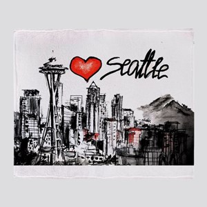 I love Seattle Throw Blanket