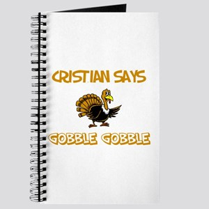 Cristian Says Gobble Gobble Journal