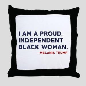 Melania Trump Quote Throw Pillow