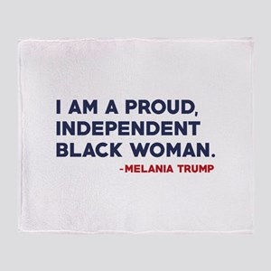 Melania Trump Quote Stadium Blanket