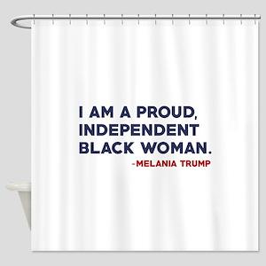 Melania Trump Quote Shower Curtain
