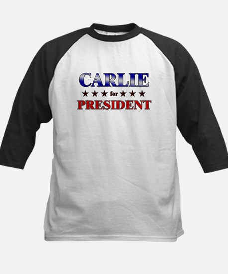 CARLIE for president Kids Baseball Jersey