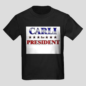 CARLI for president Kids Dark T-Shirt
