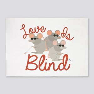 Love Is Blind 5'x7'Area Rug