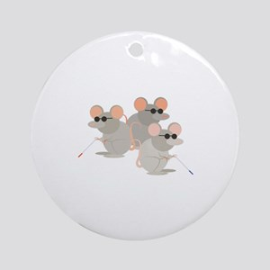 Three Blind Mice Round Ornament