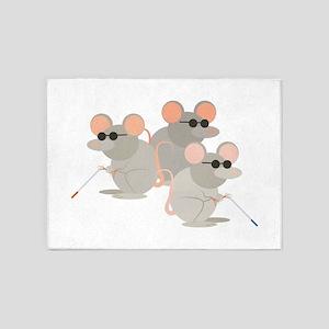 Three Blind Mice 5'x7'Area Rug