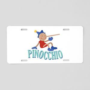 Pinnocchio Aluminum License Plate