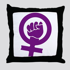 Feminist Power Throw Pillow