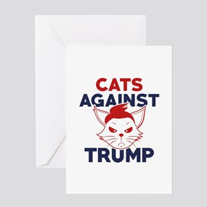 Cats Against Trump Greeting Card