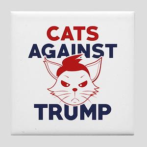 Cats Against Trump Tile Coaster